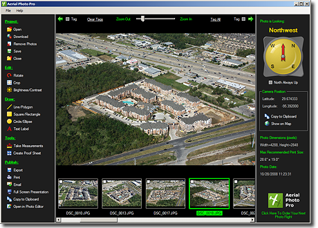 Aerial Photo Pro Software Screenshot